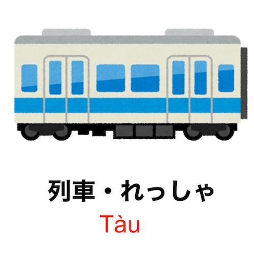 90 giây để học từ vựng Tiếng Nhật - Tàu điện!