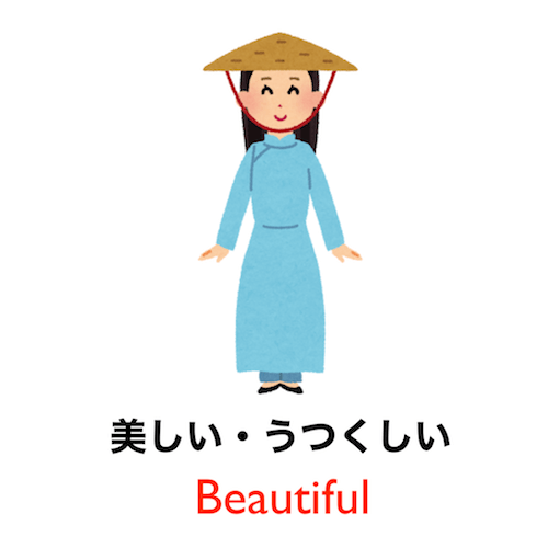 Learn Japanese vocabulary in 90 seconds - Theme: Appearance!