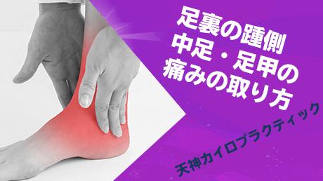 足裏の踵側、中足、足甲の痛みの取り方 - 寺川一秀の動画講座