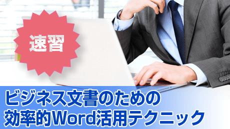 速習!ビジネス文書のための効率的Word活用テクニック【Word 2010版】