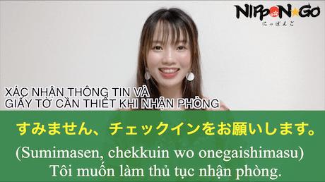 Tiếng Nhật giao tiếp trong khách sạn khi đi du lịch