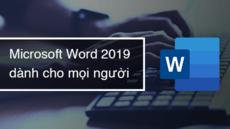 Microsoft Word 2019 dành cho mọi người